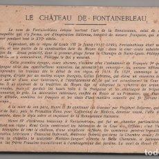 Postales: LE CHATEAU DE FONTAINEBLEAU - BLOQUE CON 38 POSTALES - 1939. Lote 174173604