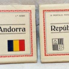 Postales: 2 BLOCS POSTALS FOTOGRÀFIQUES REPÚBLICA D´ANDORRA. 1RA I 2ONA SÈRIE.EDICIÓ V. CLAVEROL. Lote 174305842