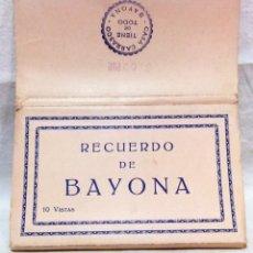 Cartoline: ALBUM FOTOGRÁFICO RECUERDO DE BAYONA.10 VISTAS. EDITA CASA CARRASCO. BAYONA. Lote 174331037