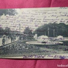 Cartes Postales: ANTIGUA POSTAL. 483. PARIS. LES CHAMPS-ELYSEES AU ROND-POINT. 1906. Lote 174528839
