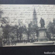 Postales: ANVERS AMBERES BELGICA LA PLACE VERTE AVEC STATUE RUBENS. Lote 174576374