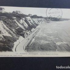 Postales: BIARRITZ FRANCIA LA COSTA VASCA A VISTA DE PAJARO. Lote 175249102