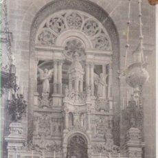 Postales: FRANCIA SAINTE ANNE D'AURAY INTERIOR DE LA IGLESIA ALTAR PRINCIPAL POSTAL CIRCULADA. Lote 175741640