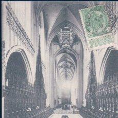 Postales: POSTAL BELGICA - ANVERS - LA NEF DE LA CATHEDRALE - VUE DU CHOEUR - CIRCULADA. Lote 175909517