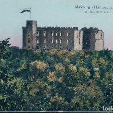 Postales: POSTAL ALEMANIA -MAXBURG - HAMBACHER SCHLOB - BEI NEUSTADT A D HAARDT - KUNSTANSTALT KARL BRAUN & CO. Lote 175910997