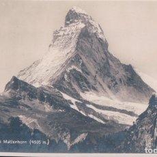 Postales: POSTAL SUIZA - DAS MATTERHORN - 6068 - SOCIETE GRAPHIQUE NEUCHATEL - CIRCULADA. Lote 175914520