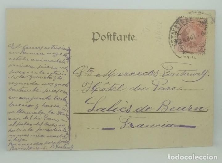 Postal antigua circulada. Enviada a Francia. Ver sello