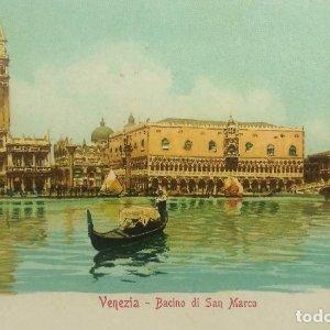 1915 Venezia Bacino di San Marco (ver sello)