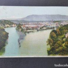Postales: GINEBRA GENEVE SUIZA LA JONCTION DU RHONE ET DE L´ARVE POSTAL . Lote 176083854