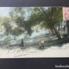 Postales: GINEBRA GENEVE SUIZA BORD DU RHONE SENTIER DES SAULES POSTAL . Lote 176083913
