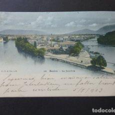 Postales: GINEBRA GENEVE SUIZA LA JONCTION POSTAL . Lote 176084064