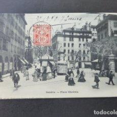 Postales: GINEBRA GENEVE SUIZA PLACE CHEVELU POSTAL . Lote 176084259