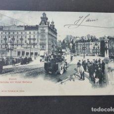 Postales: ZURICH SUIZA HOTEL BELLEVUE POSTAL . Lote 176084862