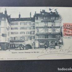 Postales: GINEBRA GENEVE SUIZA ANCIENE PASAGE DE BEL AIR POSTAL . Lote 176085062