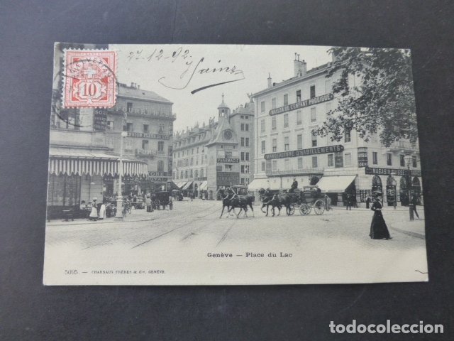 Postales: GINEBRA GENEVE SUIZA PLACE DU LAC POSTAL - Foto 1 - 176085124