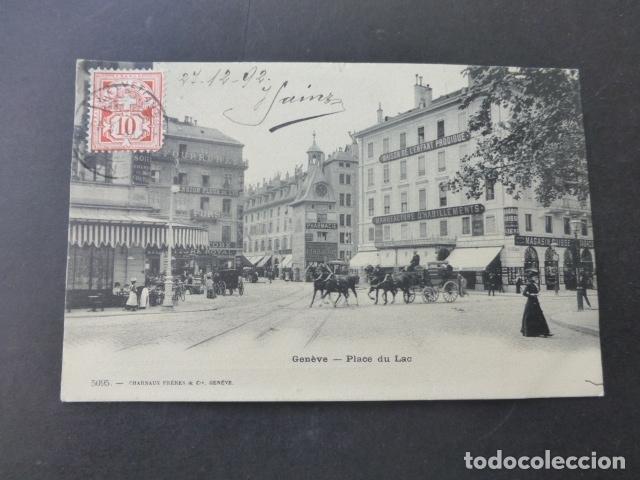 GINEBRA GENEVE SUIZA PLACE DU LAC POSTAL (Postales - Postales Extranjero - Europa)