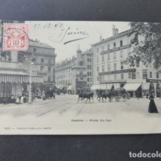 Postales: GINEBRA GENEVE SUIZA PLACE DU LAC POSTAL . Lote 176085124