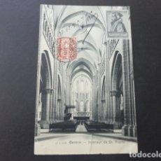 Postales: GINEBRA GENEVE SUIZA INTERIEUR DE ST PIERRE POSTAL . Lote 176085257