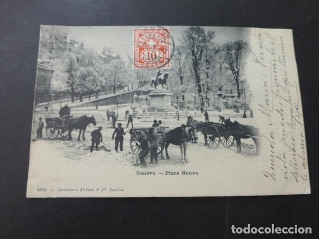 GINEBRA GENEVE SUIZA PLACE NEUVE (Postales - Postales Extranjero - Europa)