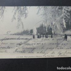 Postales: GINEBRA GENEVE SUIZA OLA DE FRIO. Lote 176108058