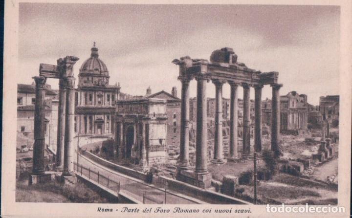POSTAL ROMA . PARTE DEL FORO ROMANO COI NUOVI SCAVI - 4587-30 - ITALIA (Postales - Postales Extranjero - Europa)
