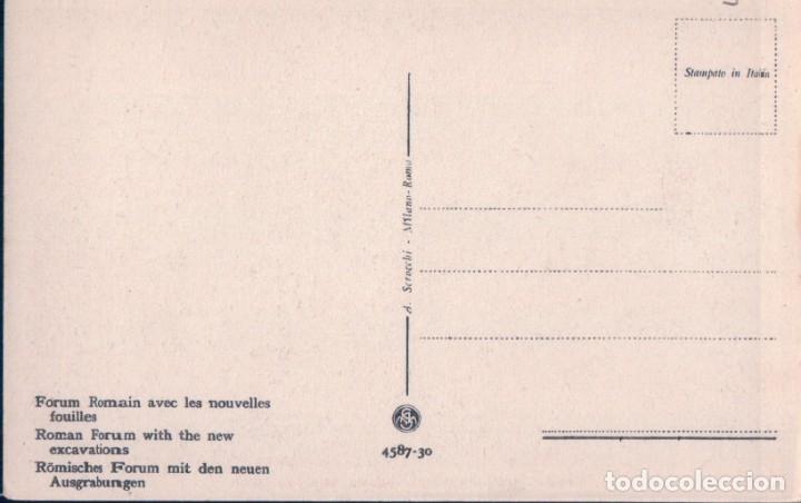 Postales: POSTAL ROMA . PARTE DEL FORO ROMANO COI NUOVI SCAVI - 4587-30 - ITALIA - Foto 2 - 176366193
