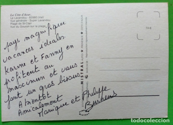 Postales: France- Cote DAzur. Le Lavandou - Foto 2 - 176450379