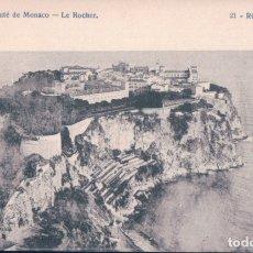 Postales: POSTAL PRINCIPADO DE MONACO . LE ROCHER - RCP PHOTO 21 - CIRCULADA 1912. Lote 176503160