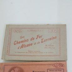 Postales: LOTE DE 2 LIBROS DE POSTALES FRANCESAS DE 10 Y 19. Lote 176746218