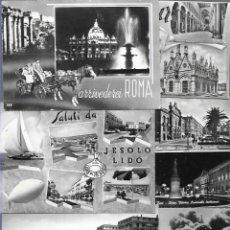Postales: 50 POSTALES * ITALIA ( BLANCO & NEGRO ) * LOTE Nº 6. Lote 176999003