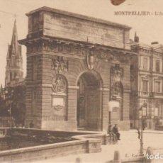 Postales: FRANCIA MONTPELLIER EL ARCO DE TRIUNFO 1931 POSTAL CIRCULADA. Lote 177129367