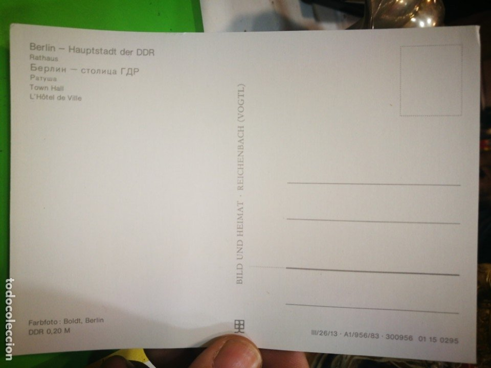 Postales: Postal Berlin Hauptstadt der DDR - Foto 2 - 177195053
