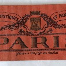 Postales: ALBUM CON 20 VISTAS ARTÍSTICAS Y PANORAMICAS DE PARIS, AÑOS 20. - MEDIDAS 31 X 12 CM.. Lote 177272610