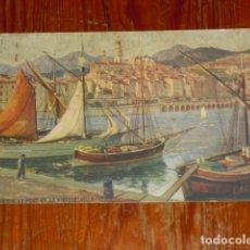 Postales: POSTAL FRANCESA AÑO 1922 - MENTON LE PORT ET LA VILLE -. Lote 177412960