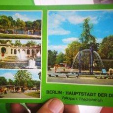 Postales: POSTAL BERLÍN HAUPTSTADT DER DDR VOLKSPARK FRIEDRICHSHAIN. Lote 177421127