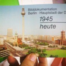 Postales: FOLLETO POSTAL BERLÍN HAUPTSTADT DER DDR BILDDOKUMENTATION. Lote 177421977