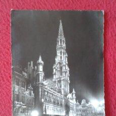 Postales: POSTAL POST CARD CARTE POSTALE BÉLGICA BELGIQUE BELGIUM BRUXELLES BRUSELAS COCHES CARS ILLUMINATION. Lote 177626128