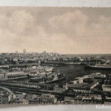 Postales: POSTAL DEL PUERTO Y VISTA GENERAL DE GENOVA .. Lote 177946615