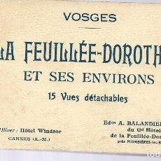 Postales: E100- BONITO Y ANTIGUO BLOC DE 15 POSTALES DE - LA FEUILLE DE VOSGES - FRANCIA. Lote 178129874