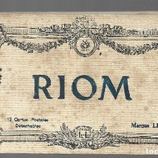 Postales: E100- BONITO Y ANTIGUO BLOC DE 12 POSTALES DE RION - FRANCIA. Lote 178137398