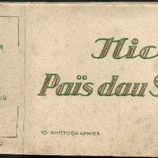 Postales: E100- BONITO Y ANTIGUO BLOC DE 10 FOTOGRAFIAS DE NIZA - MONTECARLO. Lote 178235327