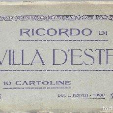 Postales: E100- BONITO Y ANTIGUO BLOC DE 8 POSTALES DE VILLA D'ESTE - TIVOLI. Lote 178235471