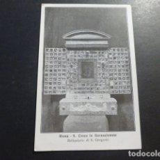 Postales: ROMA SANTA CRUZ IN JERUSALEM RELICARIO DE SAN GREGORIO. Lote 178377886