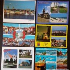 Postales: SUECIA LOTE DE 6 POSTALES CIRCULADAS. Lote 178620026