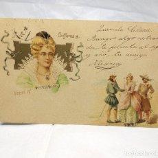 Postales: ANTIGUA POSTAL FRANCESA DEL AÑO 1901 - USADA - COIFFURES 4, HENRI IV. Lote 178711491
