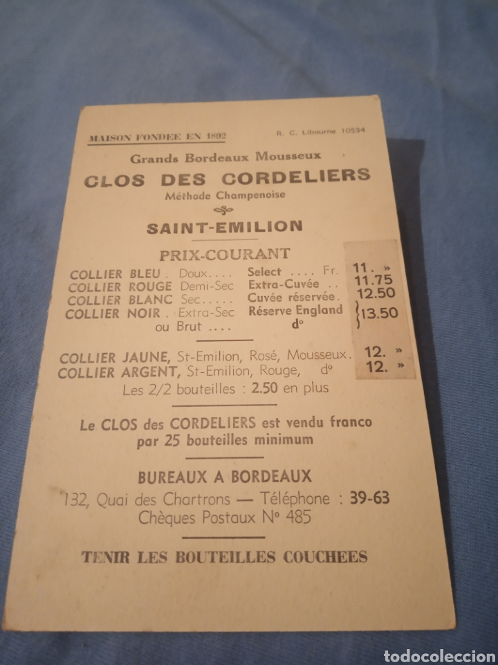 Postales: St-Emilion, catalogo precio botellas - Foto 2 - 178911790