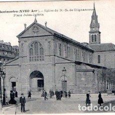 Postales: PARÍS - 2339 MONTMARTRE - IGLESIA DE N.D.DE CLIGNANCOURT - PLAZA JULES-JOFFREN. Lote 178962536