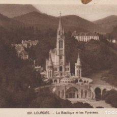 Postales: FRANCIA LOURDES LA BASILICA POSTAL NO CIRCULADA . Lote 179243691
