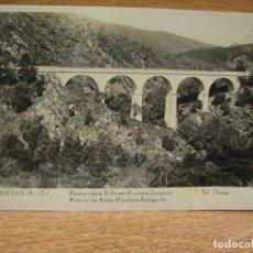 Postales: LE PERTHUS , PUENTE SOBRE EL ROME. Lote 180093811