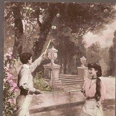Postales: PORTUGAL & CIRCULADO, ADOLESCENTE, JUEGA FELIZ Y YA ENAMORADO PIENSA ... LISBOA 1908 (617). Lote 180138733